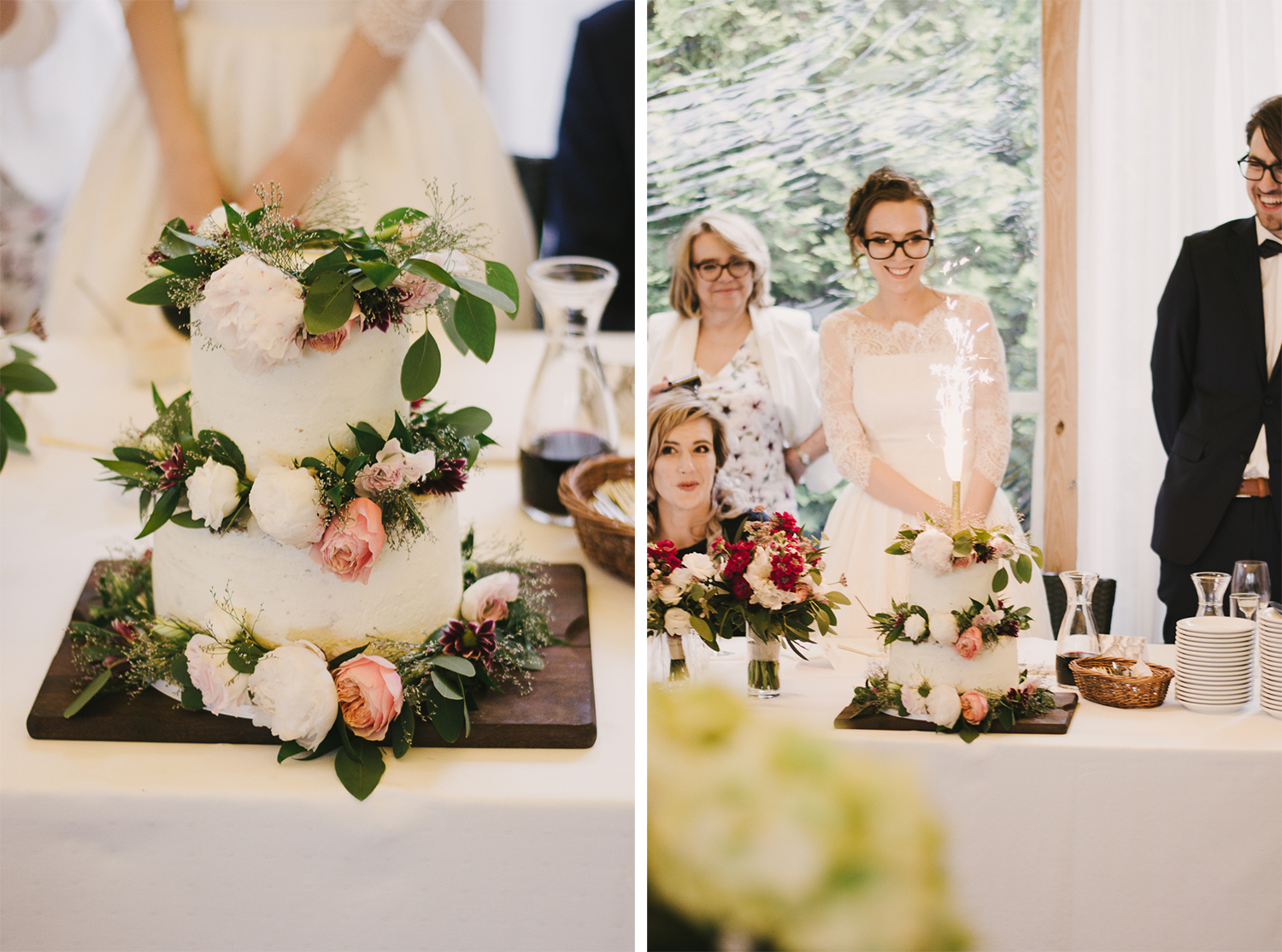 Slow wedding: tort naked cake